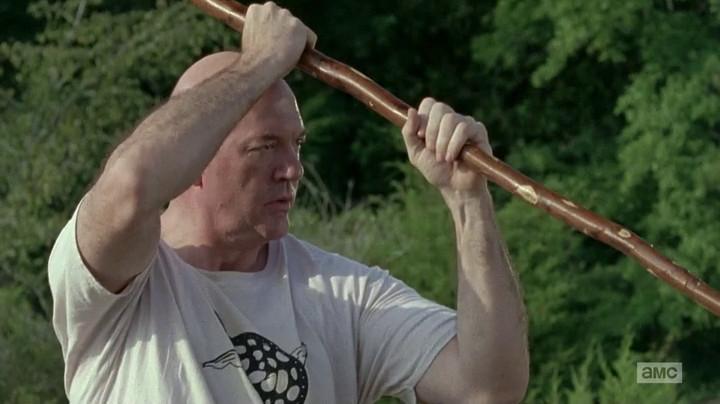 Also, his bo staff looks like a pretzel.