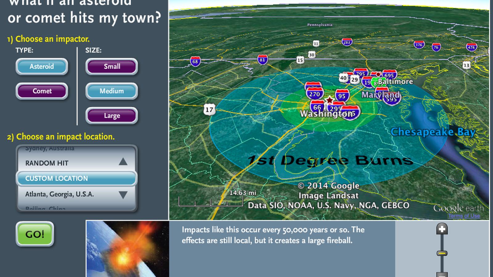 asteroid impact simulator - HD1600×900