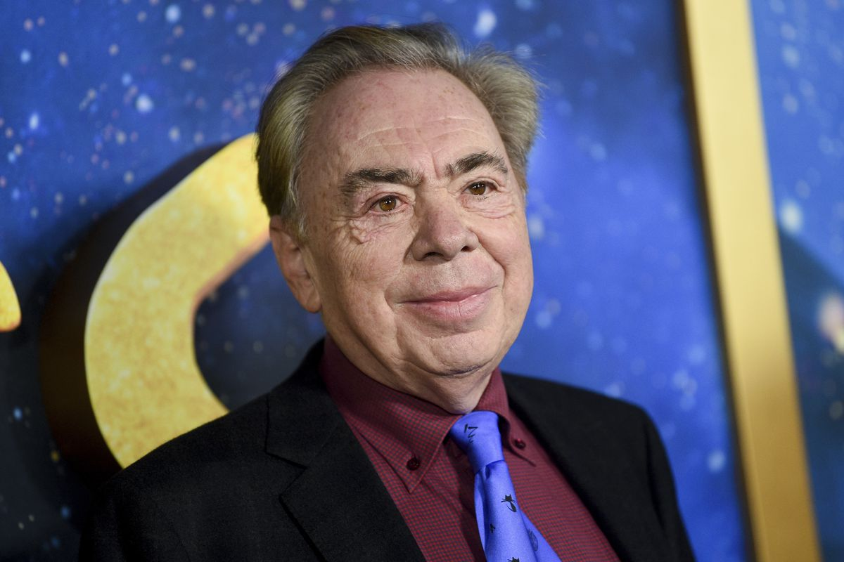 """Composer and executive producer Andrew Lloyd Webber attending the world premiere of the movie version of """"Cats"""" in New York in 2019."""