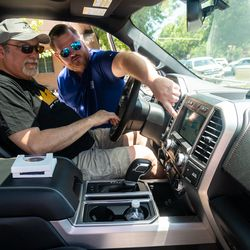 Guests had a chance to interact with the features of the 2018 Ford F-150.