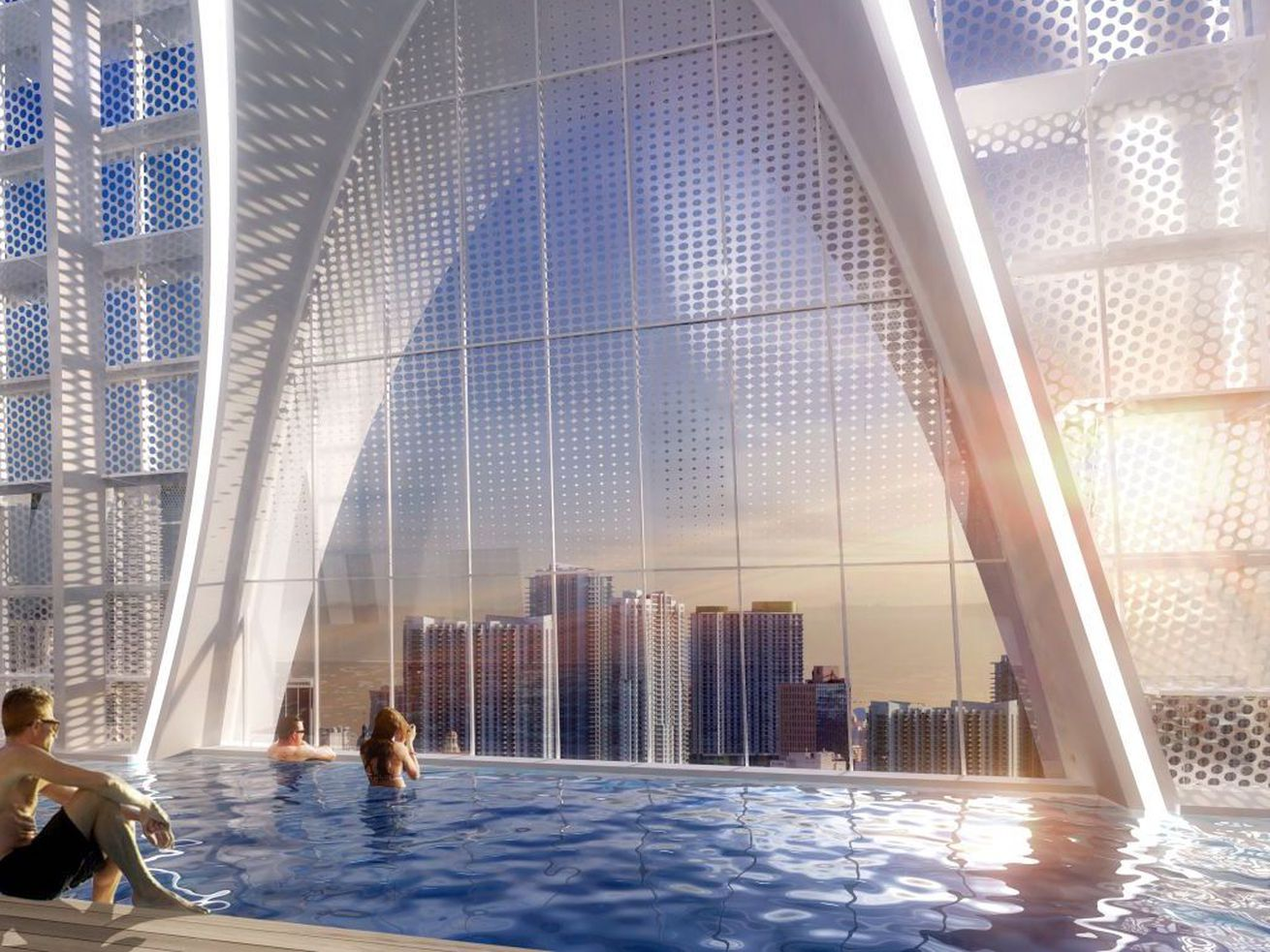 "A rendering of the tower's elevated ""sky pool."""