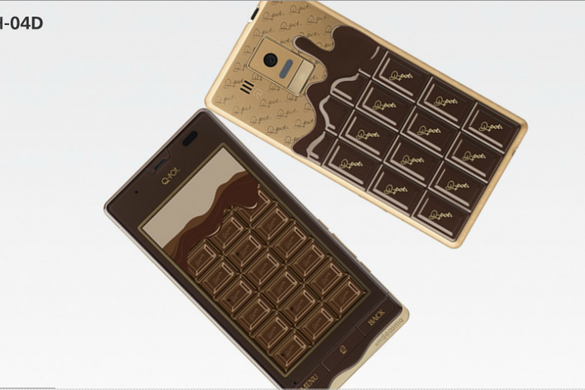 Sharp and Q-Pot offer chocolate-inspired phone for Valentine's Day ...
