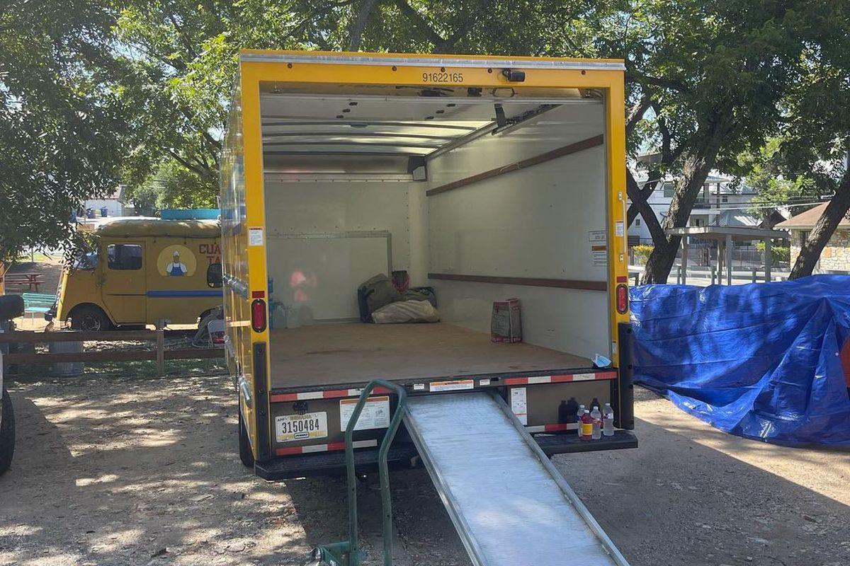 An empty truck