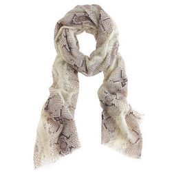 "<a href=""http://www.jcrew.com/womens_category/accessories/scarvesglovesandhats/PRDOVR~18895/99102834751/ENE~1+2+3+22+4294967294+20~~~20+17~90~~~~~~~/18895.jsp"">Animal print wool scarf</a>,  $36.75 (was $62.50)"