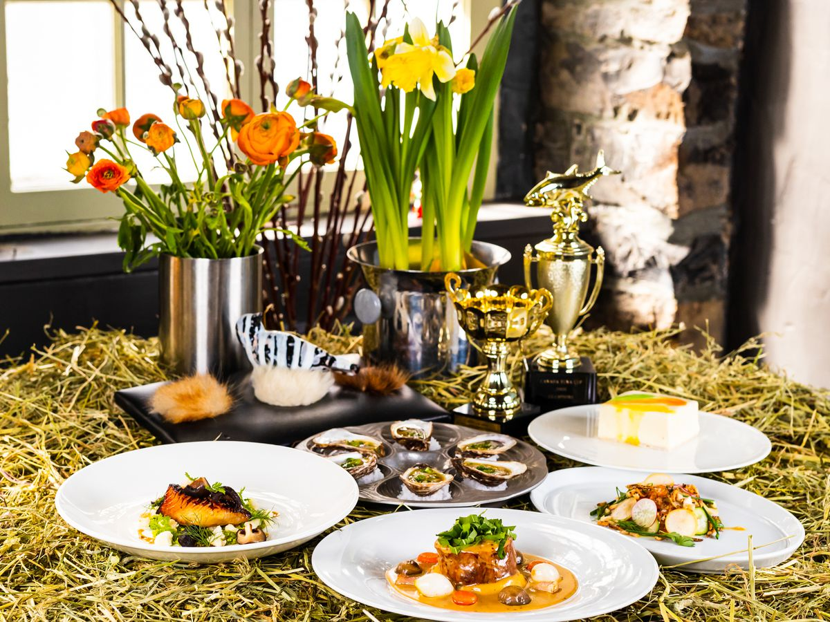 spread of easter dishes