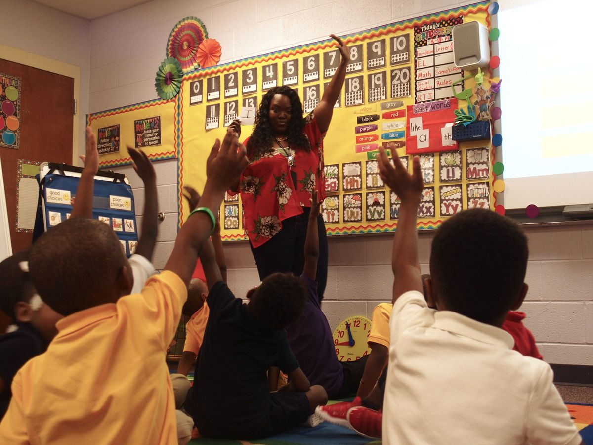 A classroom at Robert R. Church Elementary, in Memphis. (August 2019)