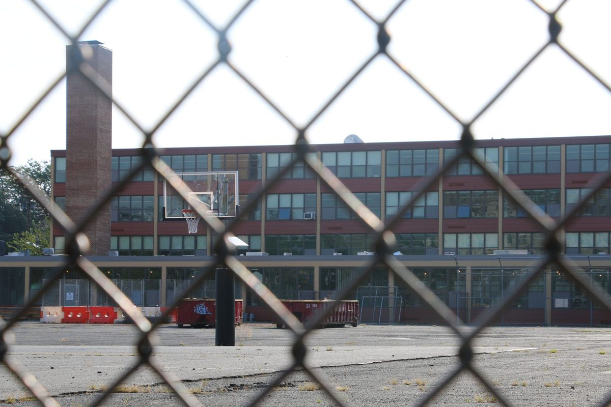 The district plans to spend $35 million to make urgently needed fixes to buildings, including the future site of Newark Vocational High School.