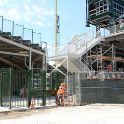 2:12 p.m. Another view of the right-field gate area -