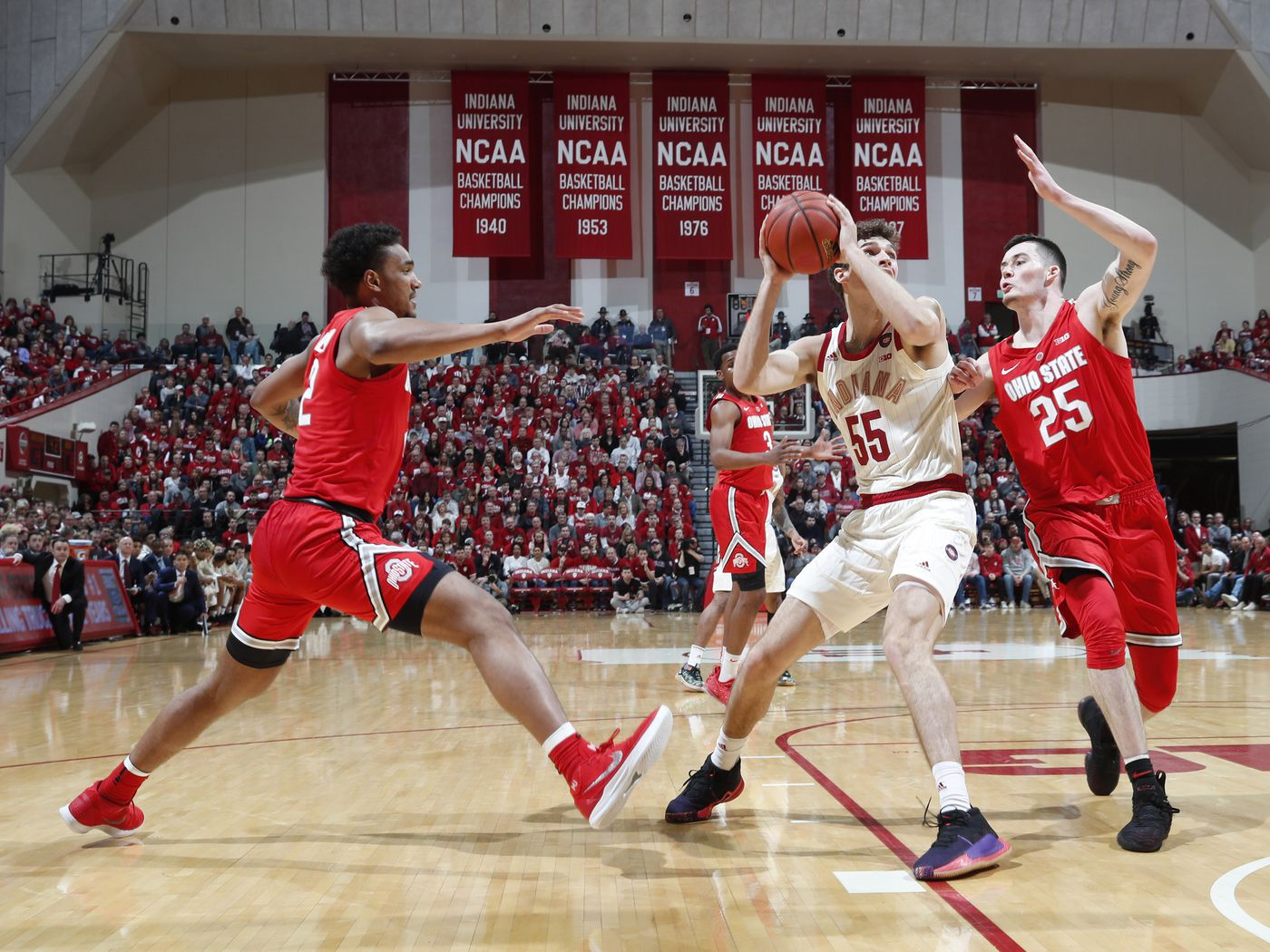 Ohio State Survives Another Nail Biter Defeats Indiana 55 52 Land