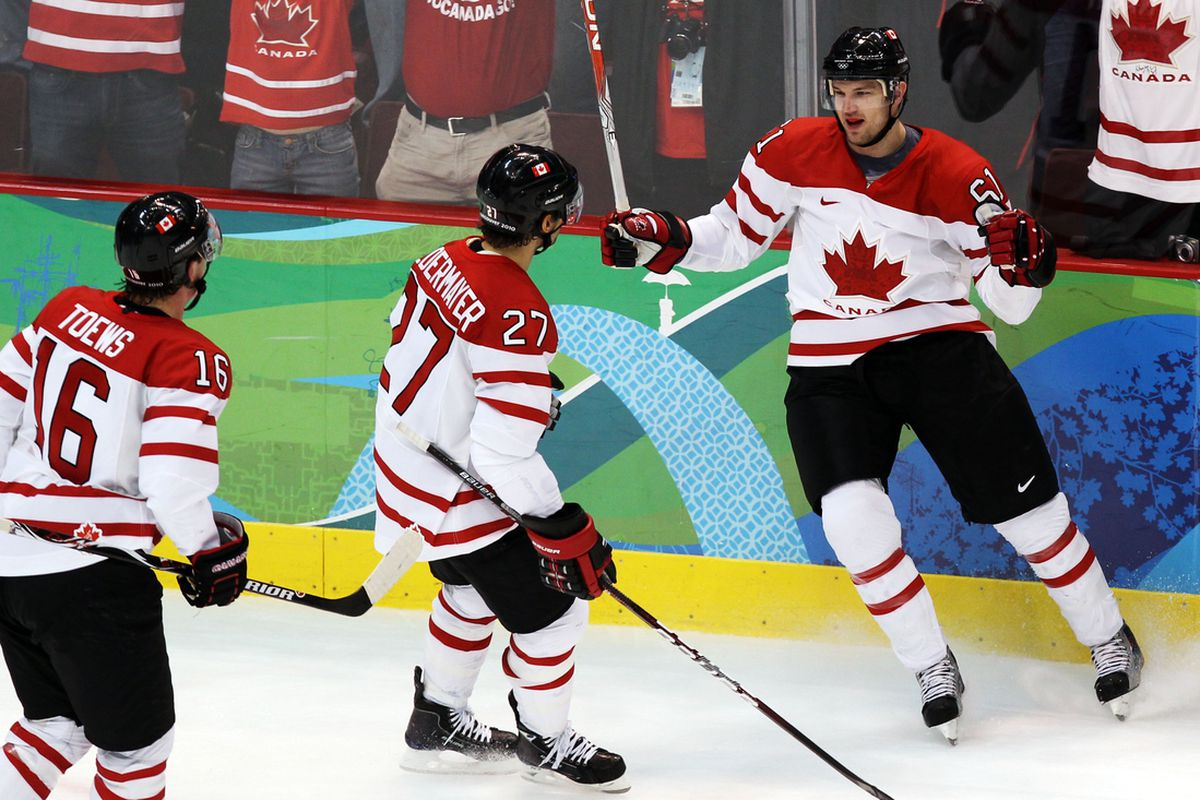 Rick Nash is back from injury, and back in the picture for Team Canada
