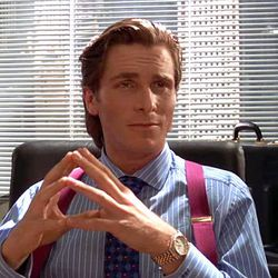 5. <b>American Psycho (2000):</b> Suspenders do not necessarily denote nerdy, quiet types. Especially if they're paired with Rolexes.