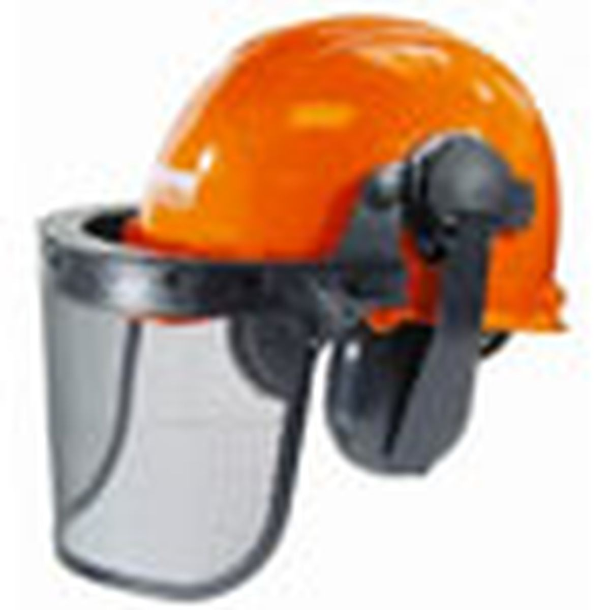 Hard Hat With Face Screen And Hearing Protection