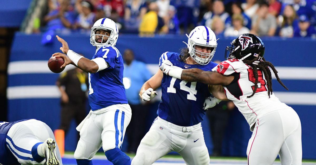 Jacoby Brissett's career game leads Colts past Falcons 27-24