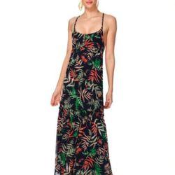 Cross-back maxi dress in palm print ($44.99).