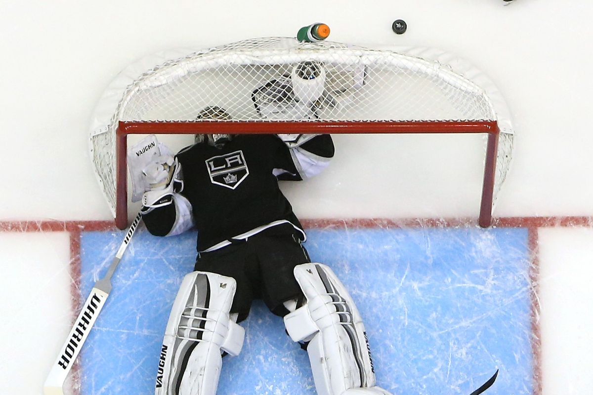 jonathan quick after he heard that handzus and bollig are still in the lineup