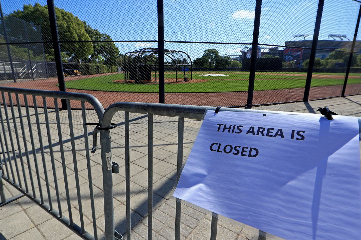 A view of the New York Yankees Spring Training facility at George M. Steinbrenner Field which has been closed due to the coronavirus outbreak on March 18, 2020 in Tampa, Florida.