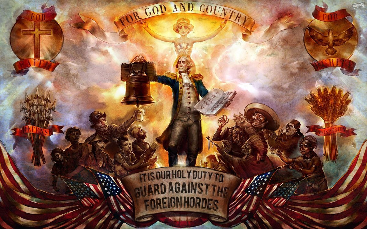BioShock Infinite - 'for God and country' art