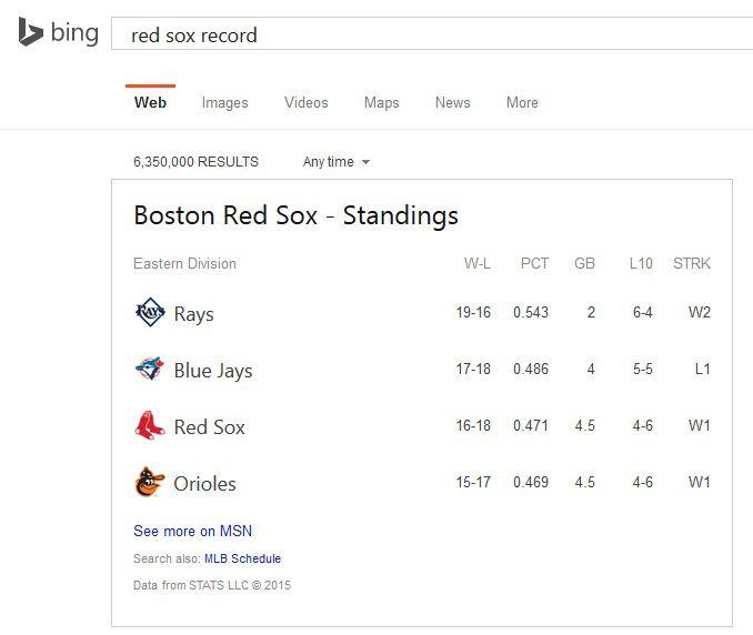 No Yankees Bing