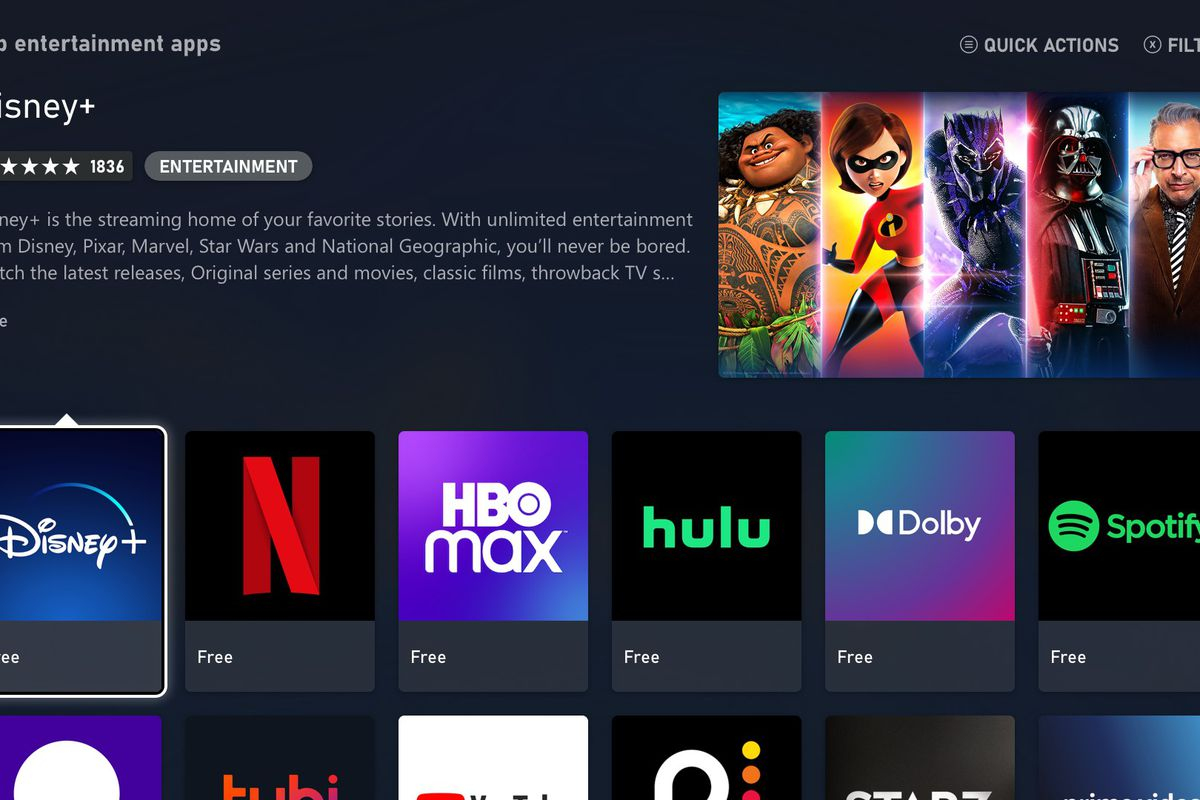 xbox series x and s home screen streaming apps screencap