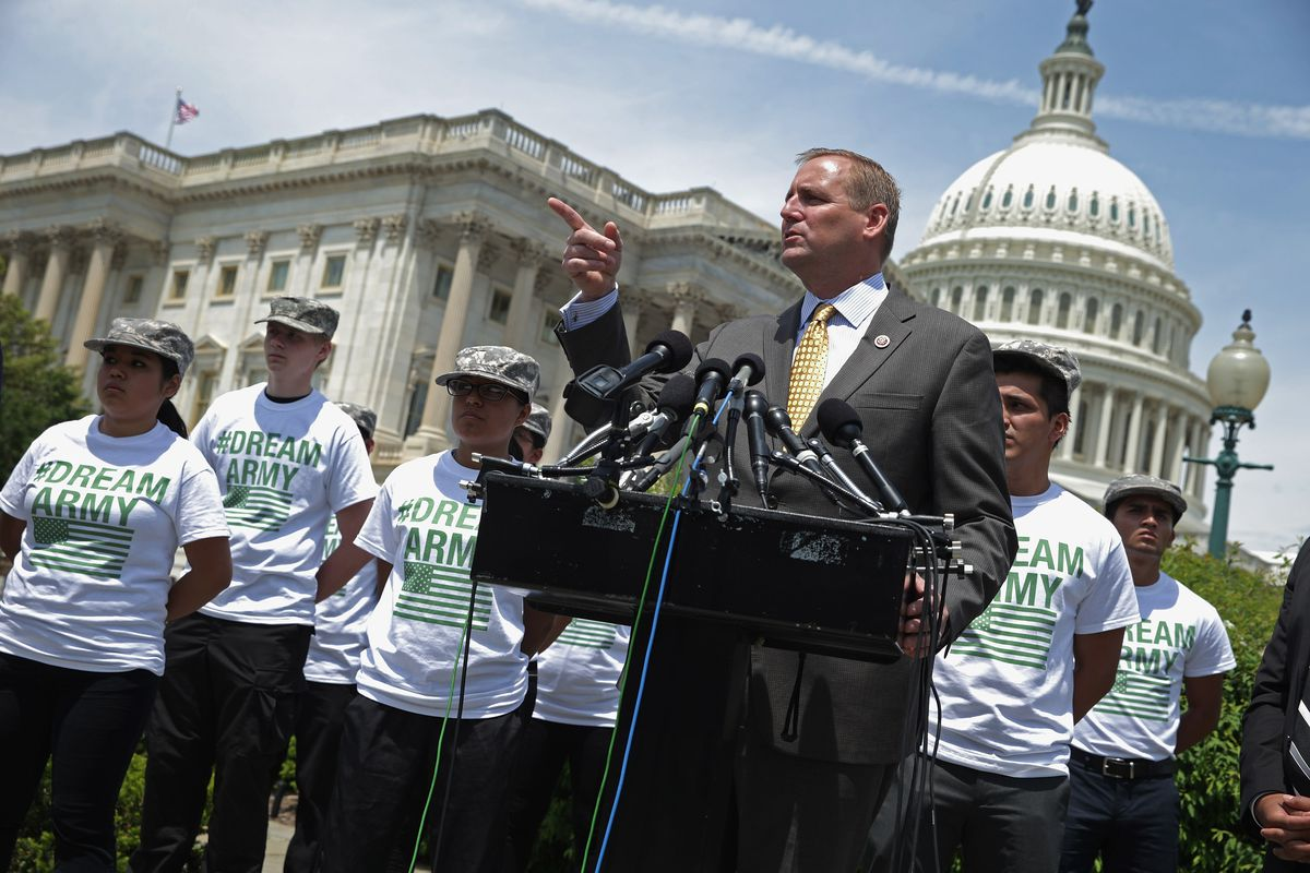 Undocumented Immigrants Wishing To Join The Military Discuss Their Cause With Legislators In D.C.
