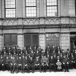 Salt  Lake finest in 1908 in front of their Police Headquarters. The Shipler Collection of 100,000 images chronicles life from 1902 to 1980 in Salt Lake City, the collection is part of nearly a million images at the Rio Grande Depot headquarters of the Utah State Historical Society.