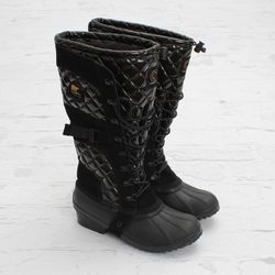"""<a href=""""http://shop.cncpts.com/products/concepts-x-sorel-womens-conquest-carly-boot-boot"""">Concepts x Sorel Womens Conquest Carly Boot</a>, $300"""