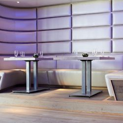Wraparound booths make for a communal feel