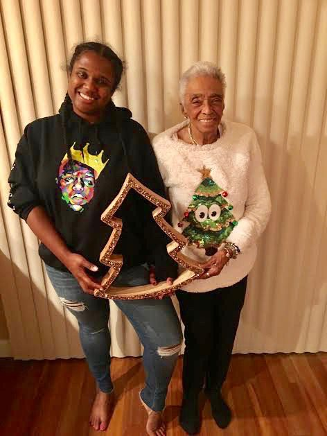 """""""I think Chicago is one of the most prejudiced cities in the country. I didn't think I'd live to see a black woman mayor,"""" said retired Chicago Public Schools principal Dorothea Avant, 91, of Streeterville, with granddaughter Lauren Tyler. 