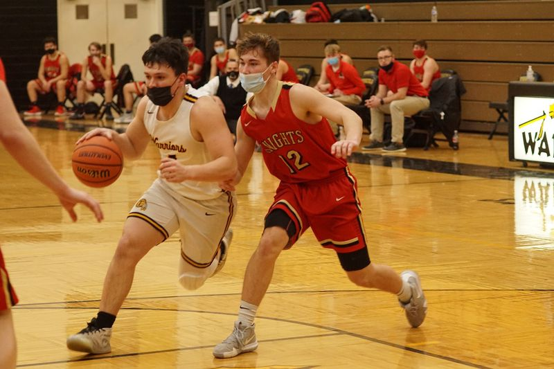 Tuscola's Grant Hardwick heads to the basket against ALAH on Friday.