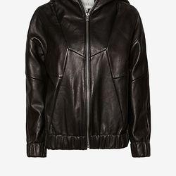 """IRO 'Jeffrey' leather jacket, <a href=""""http://owennyc.com/shop-women/women-sale/iro-14wwm08-jeffrey-leather-jacket-blk.html"""">$678</a> (was $1695)"""