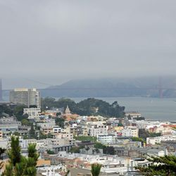 View of San Francisco and the bay near the site where the ship Brooklyn arrived in 1846.