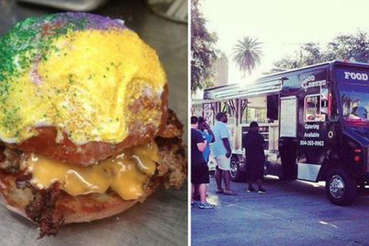 Food Drunk's king cake burger