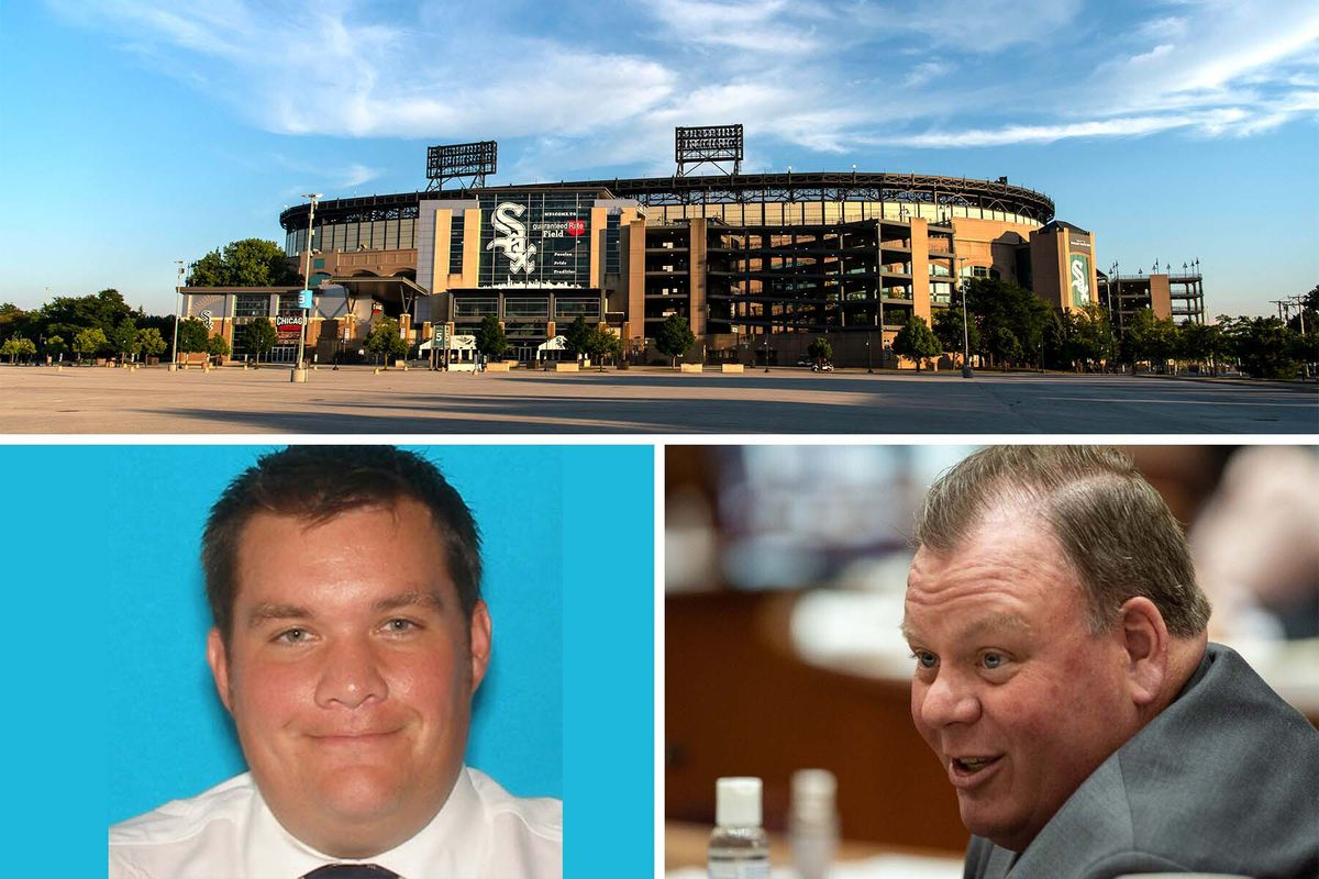 If the Chicago City Council approves a plan that lobbyist John R. Daley (bottom left) is pushing, the White Sox could offer betting at or near Guaranteed Rate Field on sporting events even in other sports and on non-game days. John R. Daley's first cousin Ald. Patrick Daley Thompson (right) represents the South Side 11th Ward that's home to the ballpark. He's been supportive of the proposal — which would also apply to the city's other major pro sports teams, sources say.