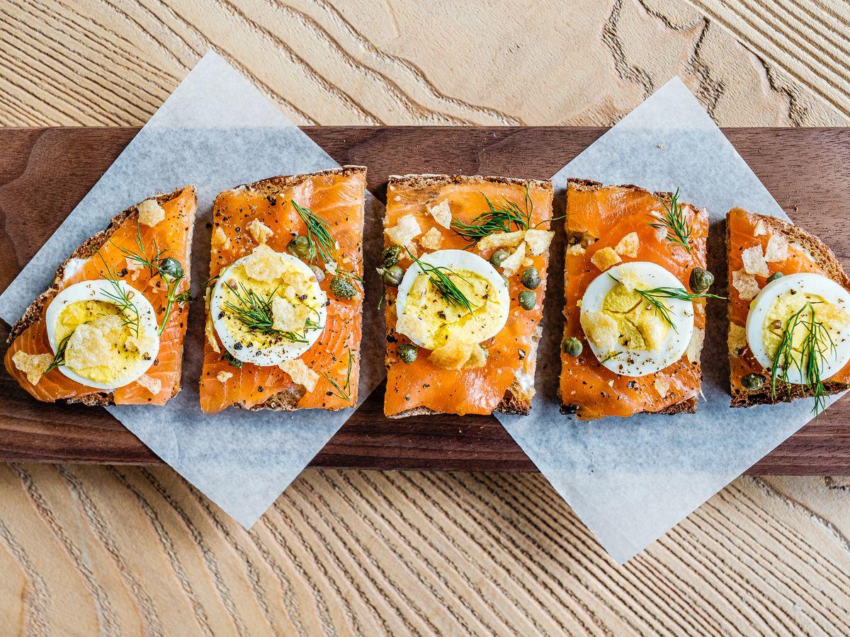 Salmon Toast at Zinqué