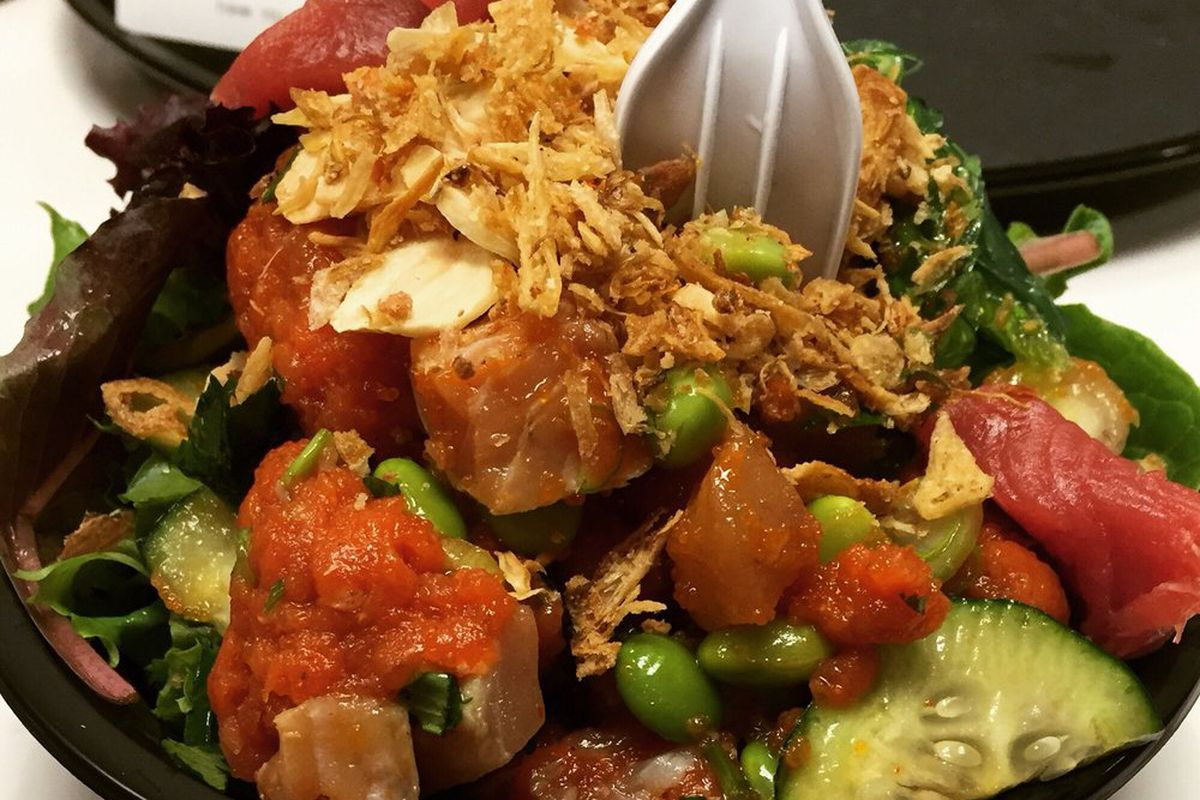 A poke bowl from Honeyfish