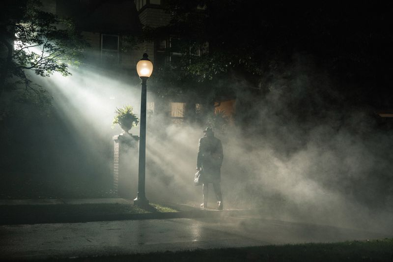 Evil pays homage to the most famous shot in The Exorcist.