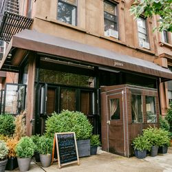 """<b>↑</b> Bright, airy and rustic, <b><a href=""""http://jamesrestaurantny.com/"""">James</a></b> (605 Carlton Avenue) is the picture of chic and the definition of welcoming. The mouthwatering menu  features blackberry-stuffed brioche French toast and lemon rico"""