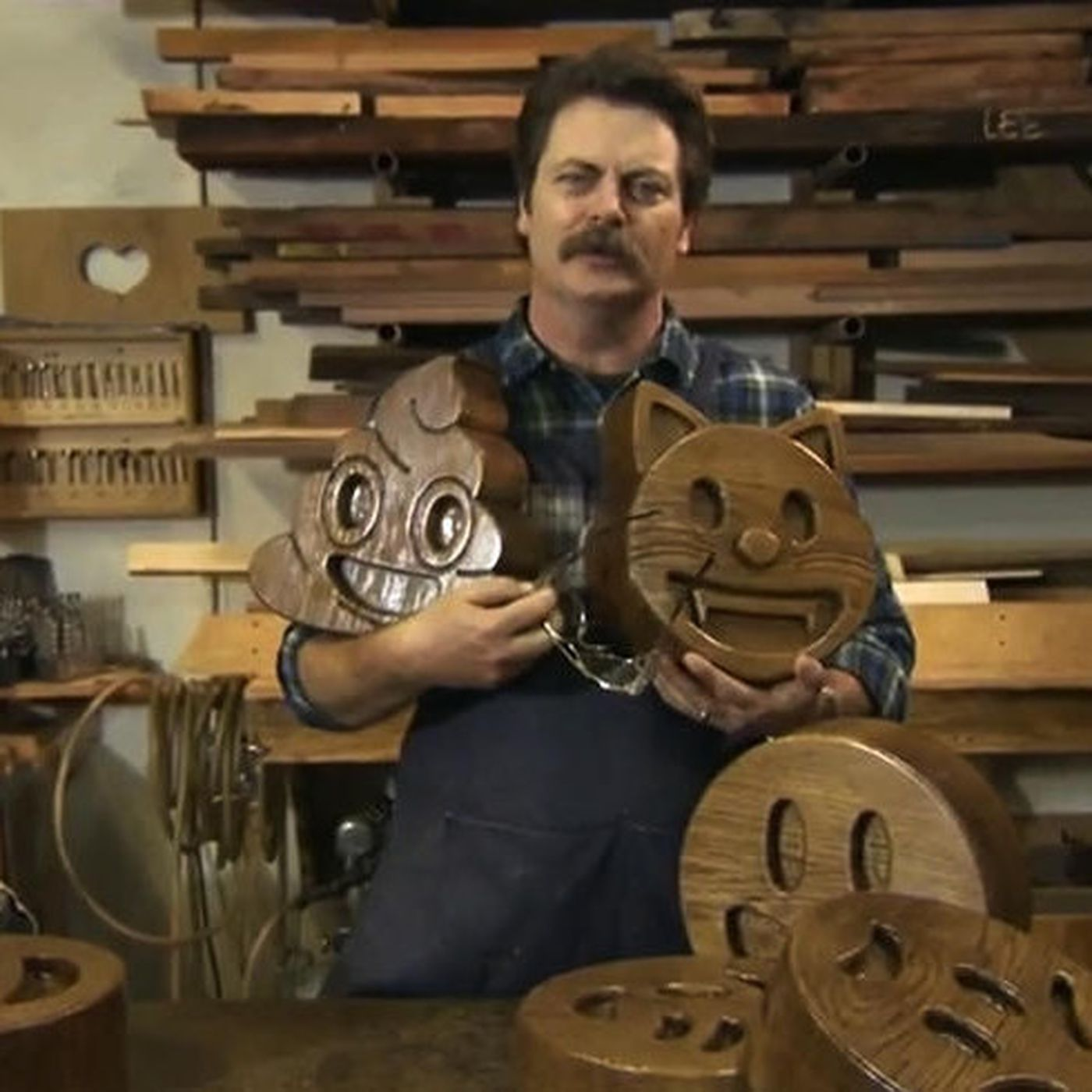 Nick Offermans Handcrafted Wood Emojis From Conan Are Real Now