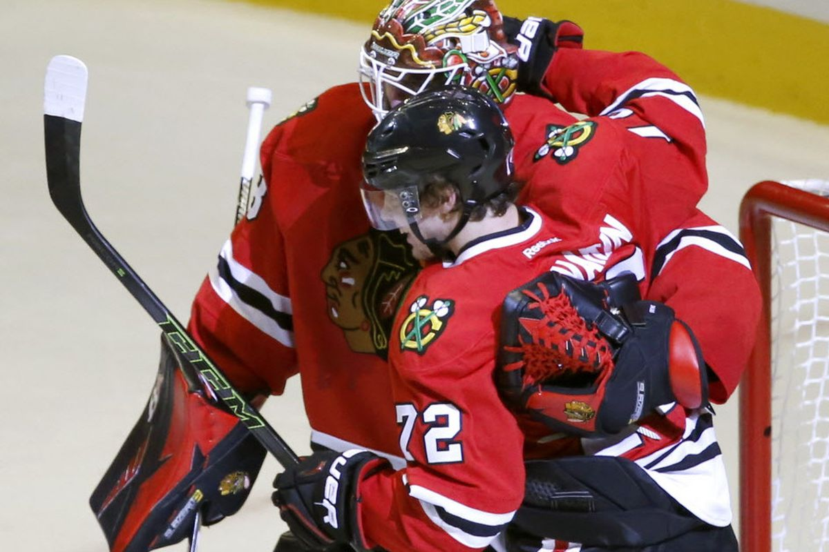 ef7cc061786 The Blackhawks will have to make decisions on unrestricted free agent Scott  Darling and restricted free agent Artemi Panarin this offseason. (AP Photo)