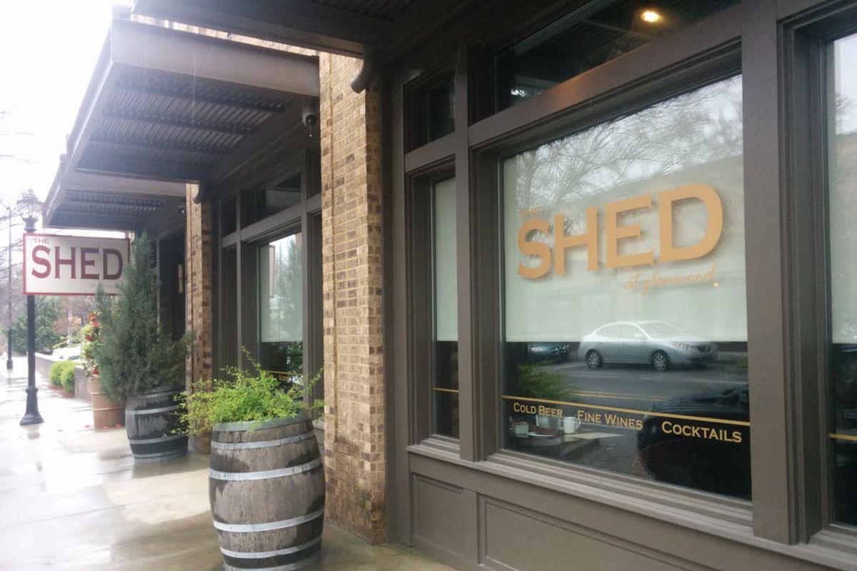 Exterior signage at The Shed at Glenwood.