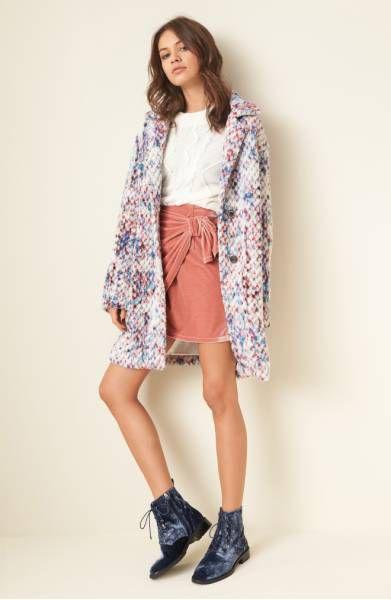 Steve Madden Confetti Wool Blend Coat, $118