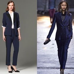 """Navy suiting. Right: Fall 2013, image via <a href=""""http://www.style.com/fashionshows/complete/F2013RTW-PLIM"""">Style.com</a>"""