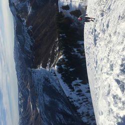 Mark Robbins making his way to the Grandeur Peak summit.