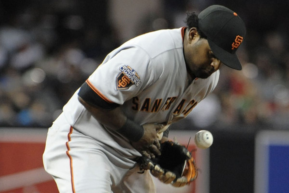 You could say the Giants are...dropping the ball! It's wordplay, people. Very clever.