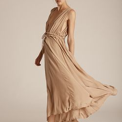 This Grecian-inspired nude number is offbeat and so LA.