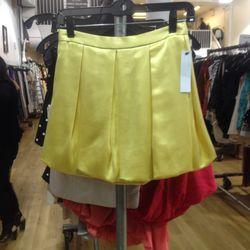Pleated bubble skirt (sample), $49