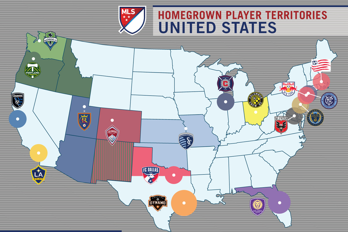 Mls By Map The Homegrown Player Rule   A new visual guide   Brotherly Game Mls By Map