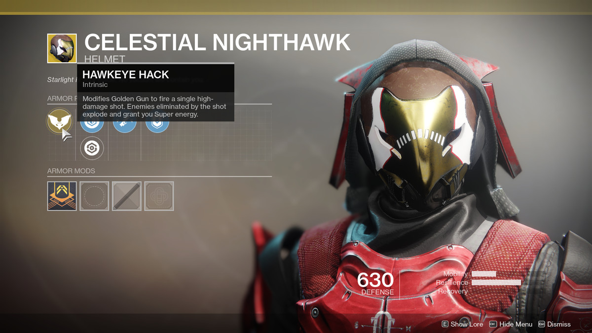 Celestial Nighthawk Exotic Destiny 2