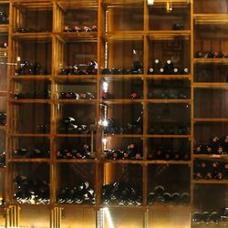 The wine cellar at Grimaldi's.