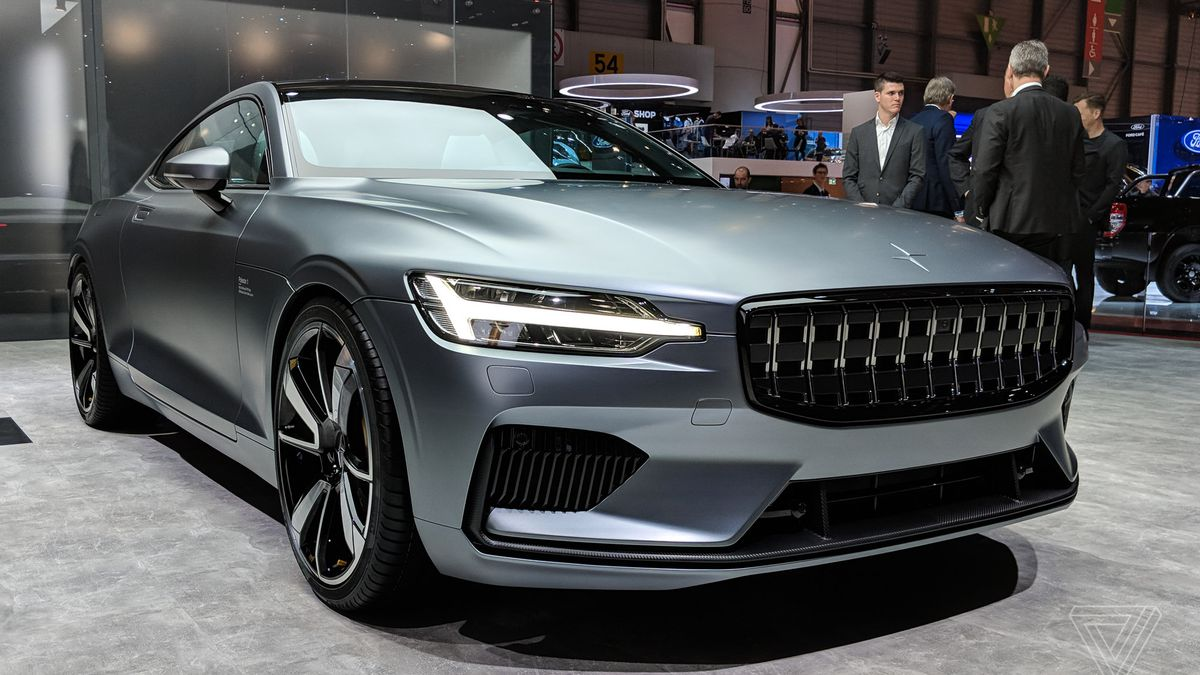 This Is The Polestar Volvos New Turbocharged Electric Coupe - Car show display mirrors